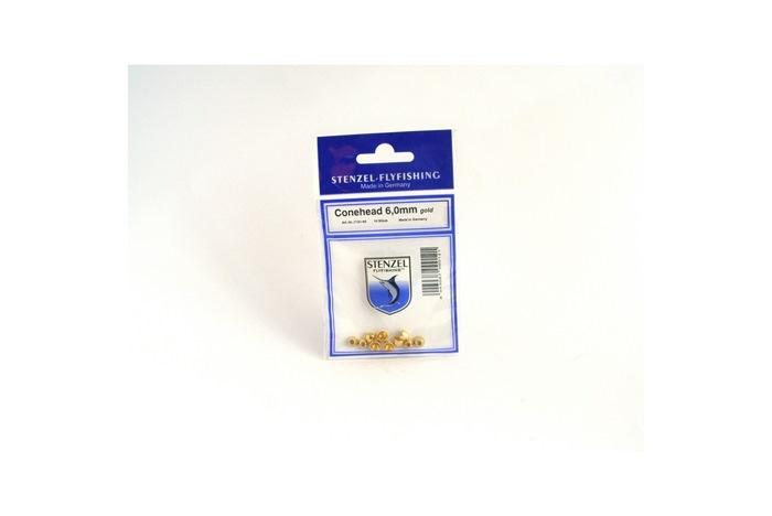 Cone-heads Guld L, 6,0 mm 0,34 gr.  SP10